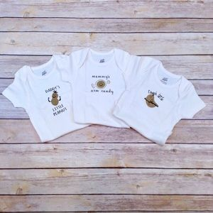 100% organic cotton 6 month onesies
